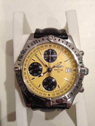 Breitling Chronomat Longitude Gelb A20048 Stahl Leder Faltschl. ,  Box HÄndler 3854 Bild