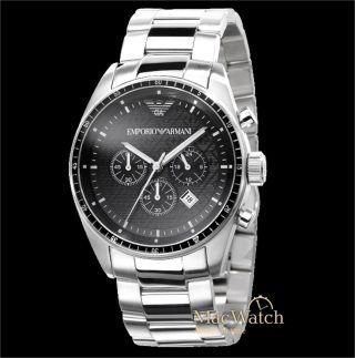 Emporio Armani Herren Uhr Ar0585 Chronograph Klassik Ovp Bild