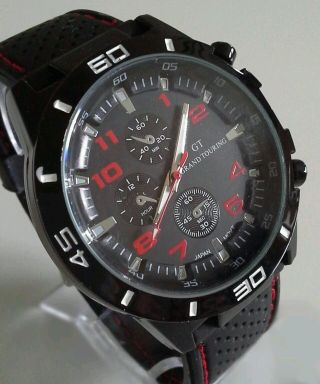 Herren Gt Sportuhr Silikonarmband Uhr Watch - - Bild