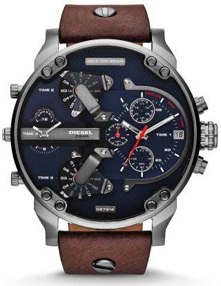 Diesel Herren - Armbanduhr Xl Mr Daddy Chronograph 4 - Zeitzonen - Anzeige Dz7314 Bild