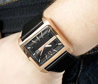 Armani Exchange Schwarz Lederband Herren Armbanduhr Ax2207 Uhr Bild