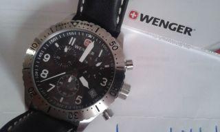 Wenger Uhr Chronograph Echtlederarmband Wie Victorinox Bild
