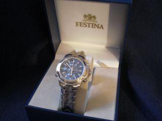 Festina Herrenuhr Chronograph Stoppuhr Stainless Steel Modell 6599 Bild