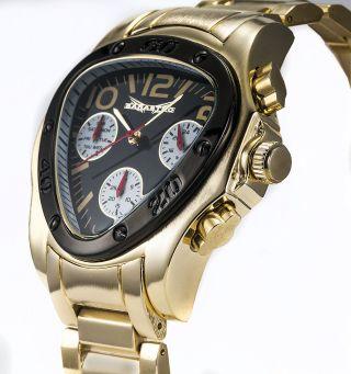 Originale Goldene Sarastro Herren Uhr Xxxl Ovp Multifunktion Chronograph Bild