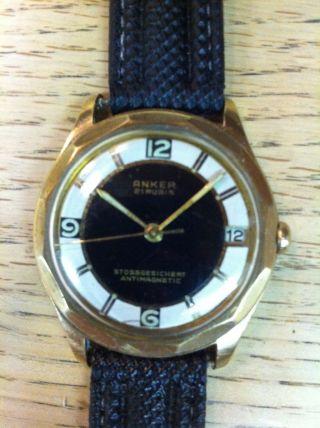 Anker Uhr Kal.  Förster 189 Mehreckiges Gehäuse Vintage Watch Bild