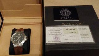 Bulgari Bvlgari Diagono Automaticchronometer Sd38s Taucheruhr Fullset Boxpapiere Bild