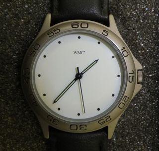 Herren Quartz Armbanduhr Wmc Excellence 8811 Schwarzes Lederarmband Bild