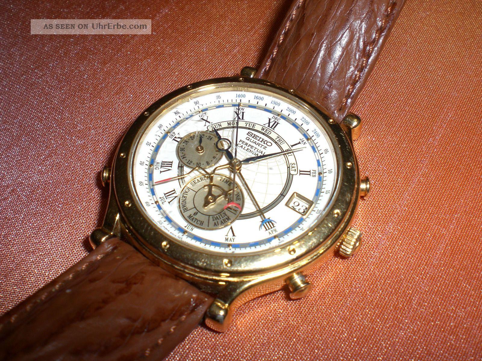 Seiko Perpetual Calendar Vintage : Seiko age of discovery quartz sammler armbanduhr m