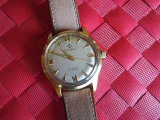 Cortebert Grand Prix Automatic.  14k Gold.  Vintage,  Swiss Made Bild