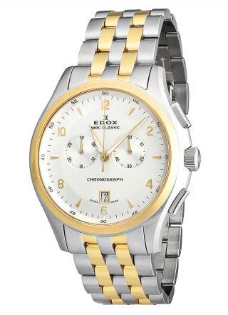 Edox Wrc Classic Herren Chronograph Stahl/gold 10102 357j Aid Bild