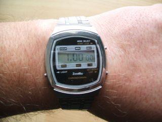 Defekte Uhrsammlung An Bastler Alte Zentra Chronograph Digital Herrenuhr Bild