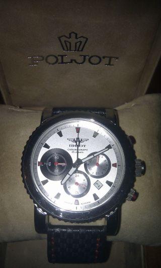 Poljot Uhr Chronograph Uhr 31681 Flieger Uhr Russian Mechanical Mit Zertifikat Bild