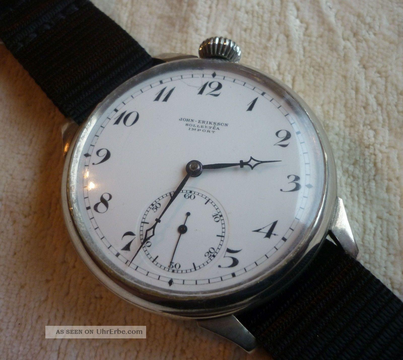 Antike Xxl Omega Armbanduhr John Eriksson Solleftea Import Absolutter Hingucker Armbanduhren Bild