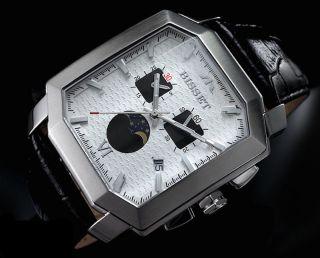 Bisset Chrono Bs25c16 Krassus Mondphasa Herrenuhr Swiss Made Armbanduhr Bild