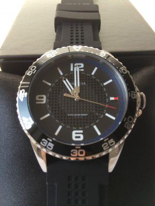 Tommy Hilfiger 1790835 Herren Uhr Armbanduhr Silikon Schwarz Uhr Bild