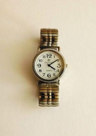 Classique Herrenuhr Mit Zugband Silber Armbanduhr Scl505 Bild