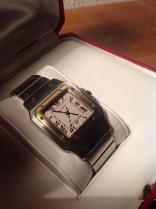 Cartier Santos Galbee Herren,  Quarz Mit Box Und Papiere Bild