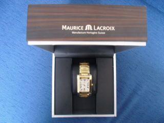 Maurice Lacroix Uhr Im Etui Mit Etikett ErbstÜck Edel Golden Bild