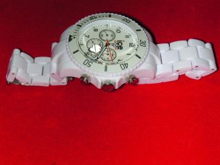 Ice Watch Chronograph White Big Datumsanzeige.  Herren Analog.  Moderne2000.  Plastik Bild