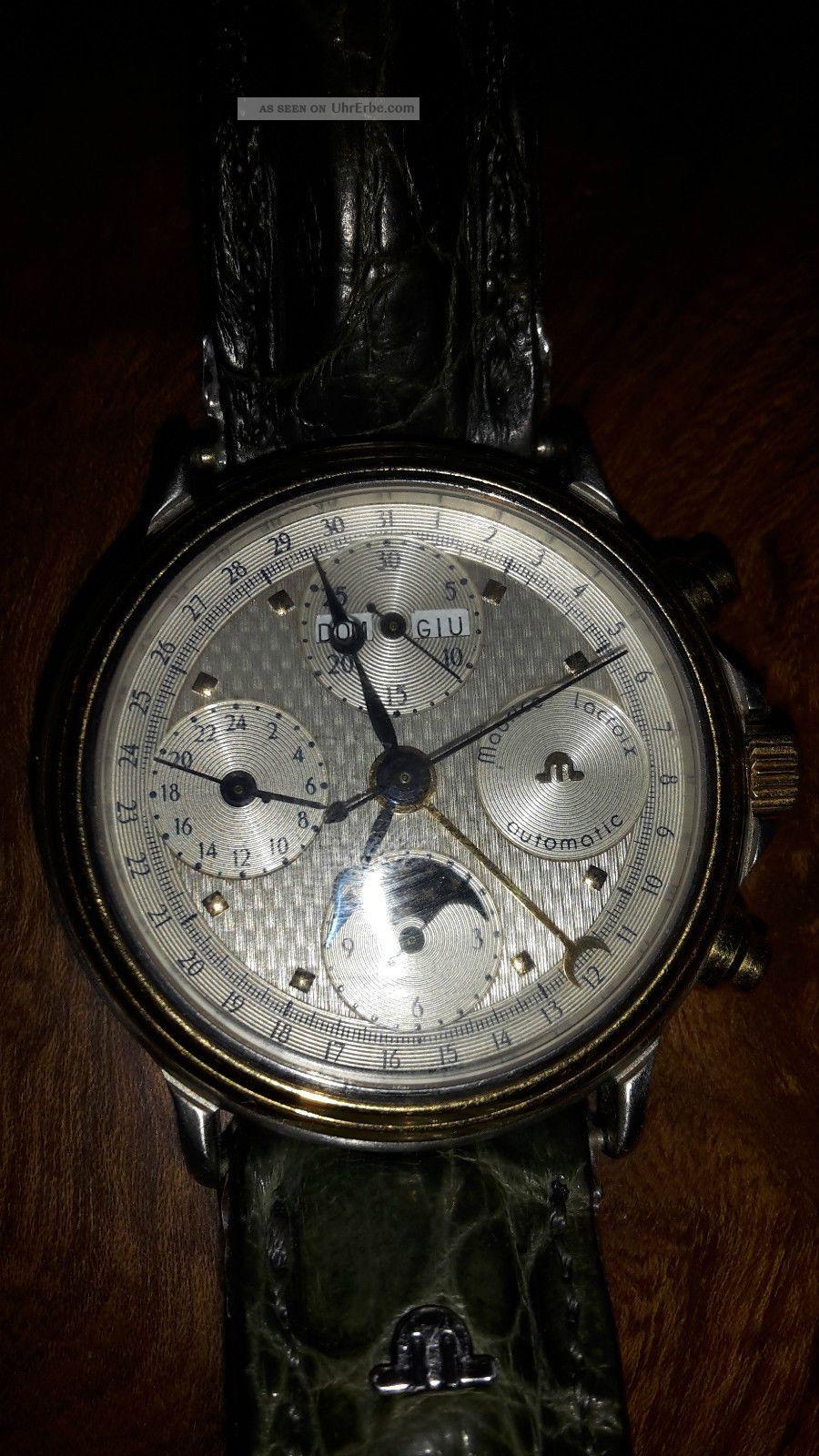 Limitierter Maurice Lacroix Crocodile Leder Luxusuhr 1a Autom 02981 Armbanduhren Bild