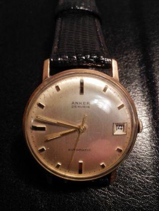 Anker 25 Rubis (jewels) Automatic Vergoldet Deutsche Uhr. Bild