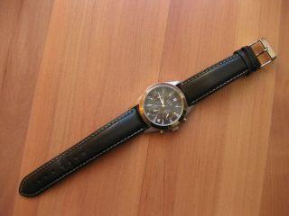 Herren Uhr Mit Leder Armband - Uhr Herren Armbanduhr Schwarz Analog Bild