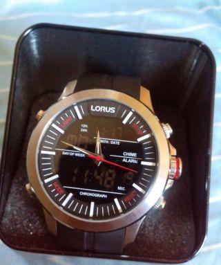 Herren Uhr Lorus Chronograph Analog & Digital Rw607ax9 Bild