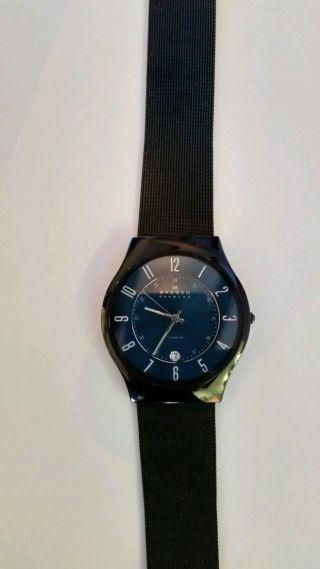 Armbanduhr Skagen Schwarz Titan Herren Ultra Ziffernblatt Dünn Blau T233xltmn Bild