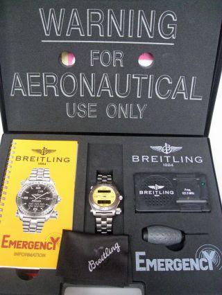 Breitling Emergency Edelstahl Ref.  : 56121 Serial No.  : 3920 Bild