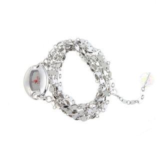 Mango Armbanduhr Kette Schmuck Stahl Quartz Gehäuse Oval Batterie Inkl.  Ovp Bild