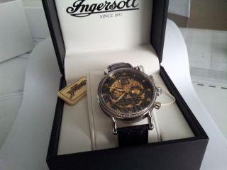 Ingersoll Alaska Uhr In7910bk Schwarz Gold Silber Fast Kaum Getragen Ovp Bild