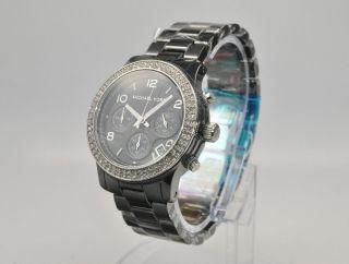 Michael Kors Mk5190 Damenuhr Armbanduhr Chronograph Keramik Bild