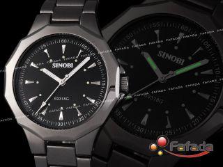 Fafada Sinobi Unisex Damen Herren Armbanduhr Analog Quarz Uhr Uhren Schwarz Bild