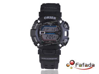 Ohsen Schwarz Digital Armbandhuhr Sport Uhr Herrenuhr Bild