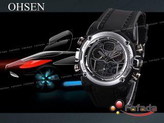 Ohsen Analog Digital Sportuhr Armbanduhr Herrenuhr Uhr Bild