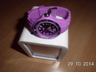Neo Watch Armbanduhr Kunststoff & Silikonband.  Violett Bild