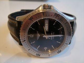 Longines Admiral Automatik Stahl / Leder Sehr Seltenes Modell Watch Uhr Bild