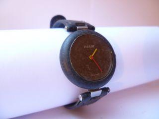 Tissot Rock Watch R150 Lederarmbanduhr Damen Armbanduhr Vom Händler 7636 Bild