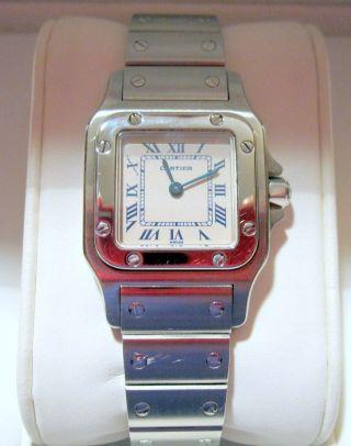 Traum Cartier Santos Edelstahl Damen Modell Armband Uhr Selten Bild