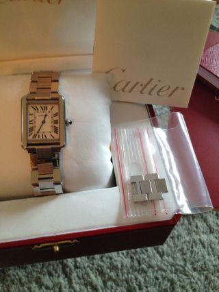 Cartier Tank Solo Edelstahl Armbanduhr Mit Neuwertig Bild