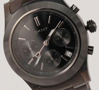 Dkny Damenuhr Uhr Chronograph Datum Kunststoff Schwarz Ny8164 Bild