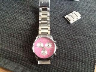 Bogner Fire&ice Damen Uhr Edelstahl Silber - Pink Dreifach Chronograph Bild