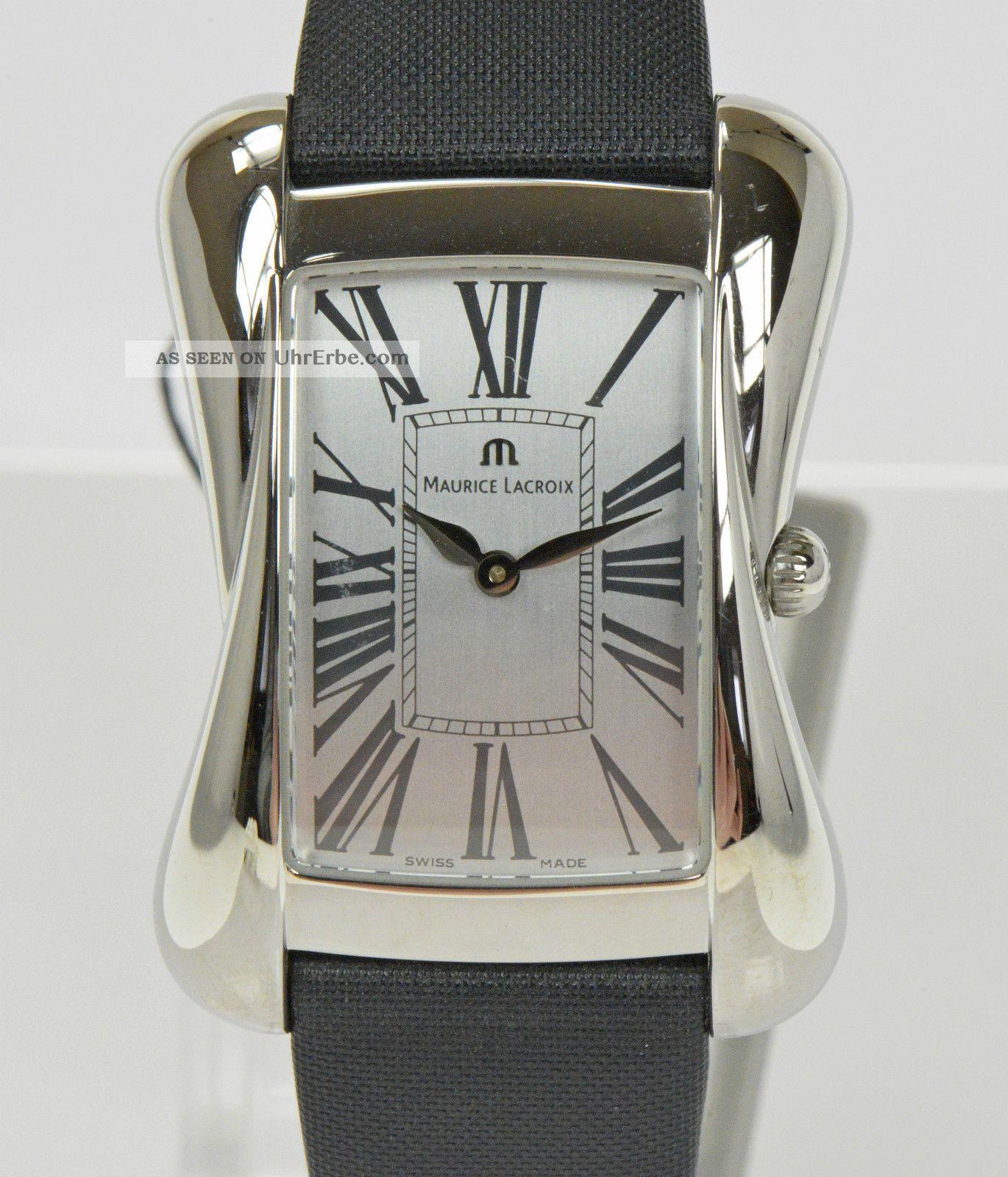Maurice Lacroix Damenuhr Edelstahl Devina Uhr Luxusuhr Armbanduhr Nr.  1459 Armbanduhren Bild