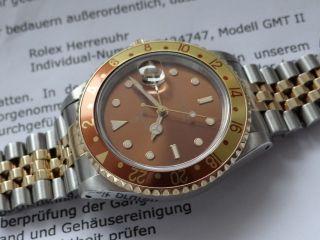 Rolex Gmt Ii 2 Automatic Tigerauge Herren Armbanduhr - Topzustand Bild
