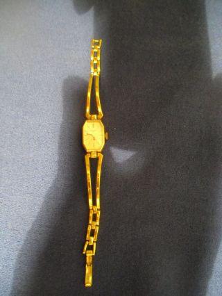 Damenarmband - Spangenuhr Anker 17 Rubins Mechanisch - Goldfarben Bild