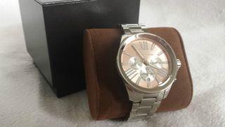 Michael Kors Xxxl Damen Uhr Chronograph Silber Watch Mk Geschenk Bild
