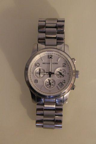 Michael Kors Mk5076 Damenuhr Armbanduhr Uhr Chronograph Silber Bild