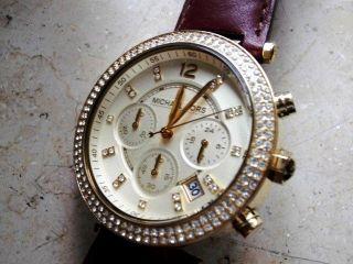 Michael Kors 2249 Damen Chronograph Vergold.  Stahlgehäuse/armband,  Neuwertig Bild