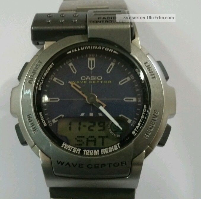 Casio Fkt - 110 Funkuhr Analog Digital Armbanduhr Uhr Funk Rar