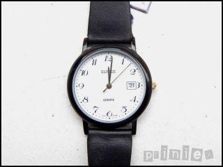 Elysee Unisex Armbanduhr 35mm Aluminium Schwarz Anti - Allergie Swiss Made Bild